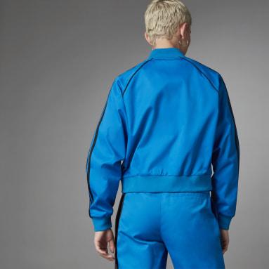 Dam Originals Blå Asymmetric Superstar Track Jacket