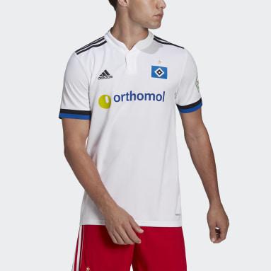 Men Football White Hamburger SV 21/22 Home Jersey
