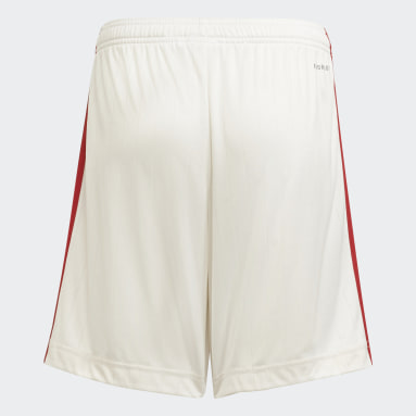 Youth 8-16 Years Football White Manchester United 21/22 Home Shorts