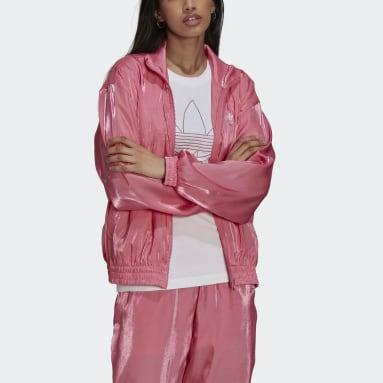 Campera Deportiva Rosa Mujer Originals