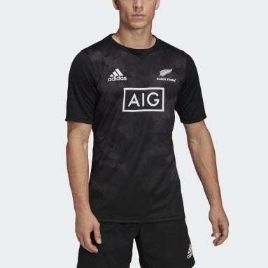 Rugby zwart Black Ferns Rugby Primeblue Replica Thuisshirt
