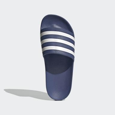 Women's Yoga Blue Adilette Aqua Slides
