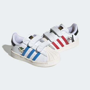 Infants Originals White Superstar Star Wars Shoes