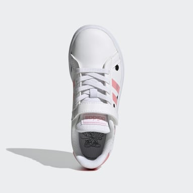 Kids Sport Inspired White Grand Court Shoes