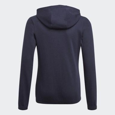 Youth 8-16 Years Sportswear Blue Essentials 3-Stripes Hoodie