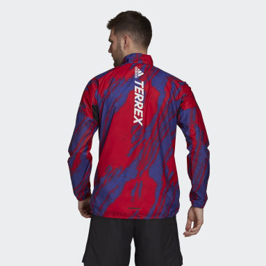 Coupe-vent Terrex Parley Agravic WIND.RDY Rouge Hommes TERREX