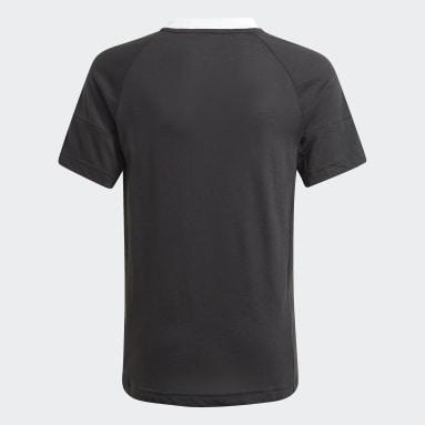 Camiseta Gaming Football-Inspired Negro Niño Gimnasio Y Entrenamiento