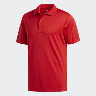 Playera Polo Performance Rojo Hombre Golf