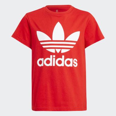 T-shirt Trefoil Rosso Bambini Originals