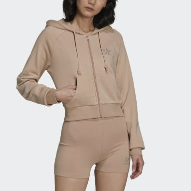 Dames Originals Beige adidas 2000 Luxe Cropped Sportjack