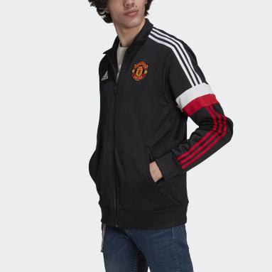 Veste de survêtement Manchester United 3-Stripes Noir Hommes Football