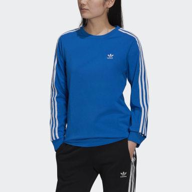 Women Originals Blue Adicolor Classics Long-Sleeve Top