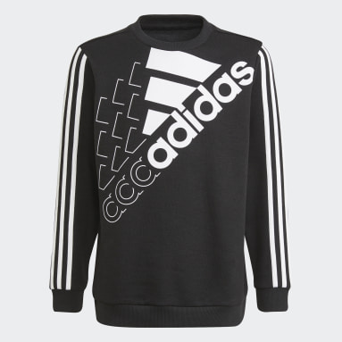 Sweat-shirt adidas Essentials Logo (Non genré) Noir Enfants Sportswear