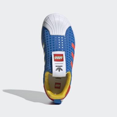 Kluci Originals modrá Boty adidas Superstar 360 x LEGO®