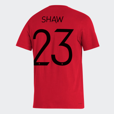 Men's Soccer Red MUFC Player Tee