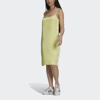 Vestido Adicolor Classics Satin Amarillo Mujer Originals