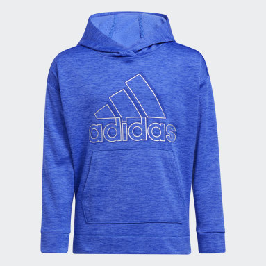 Youth Training Blue Mélange Fleece Hoodie (Extended Size)