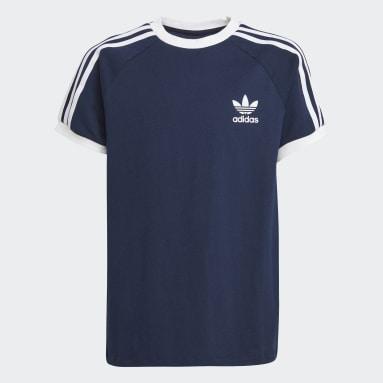 Kinderen Originals Blauw 3-Stripes T-shirt