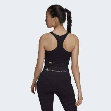 Dames adidas by Stella McCartney Zwart adidas by Stella McCartney Seamless Yoga Light Support Beha