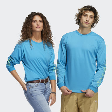 Originals Turquoise Nora Graphic Long Sleeve T-Shirt (Gender Neutral)