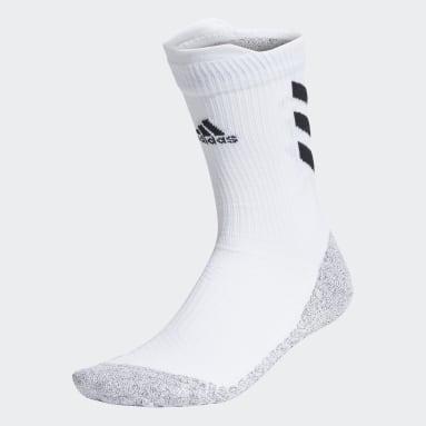Tennis White Alphaskin Crew Socks