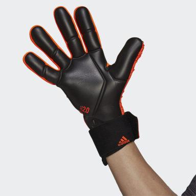 Fotbal oranžová Brankářské rukavice Predator Competition