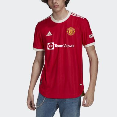 Muži Futbal červená Dres Manchester United 21/22 Home Authentic