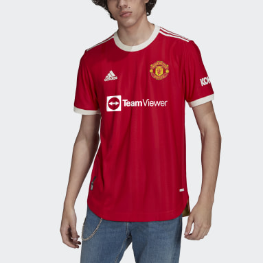 Men Football Red Manchester United 21/22 Home Authentic Jersey