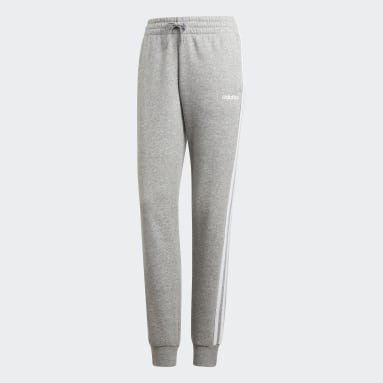 Pantalón Essentials 3 bandas Gris Mujer Sportswear