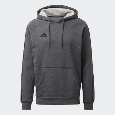 Men Gym & Training Grey Core 18 Hoodie