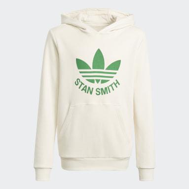 Youth Originals White Graphic No-Dye Organic Cotton Hoodie