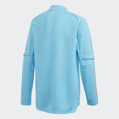 Kids Football Turquoise Real Madrid Training Top