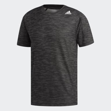 Camiseta FreeLift Tech Fitted Striped Heathered Negro Hombre Training