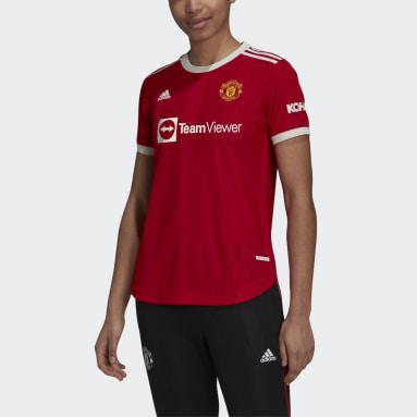 Kvinder Fodbold Rød Manchester United 21/22 Authentic hjemmebanetrøje