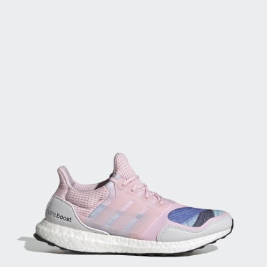 Sapatos Ultraboost S&L DNA Rosa Mulher Running