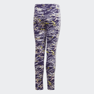 Girls Originals Purple Allover Print Leggings