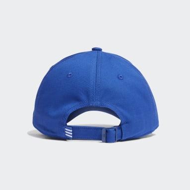Volleyball Blue Baseball 3-Stripes Twill Cap