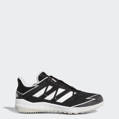 Men's Baseball Black Adizero Afterburner Turf Shoes