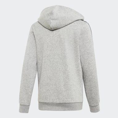 Veste à capuche à 3 bandes Essentials Gris Enfants Sportswear