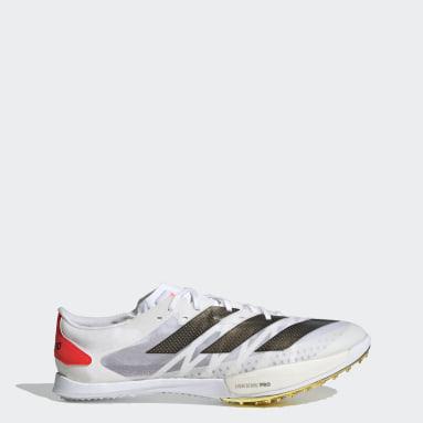 Leichtathletik Adizero Ambition Tokyo Spike-Schuh Weiß