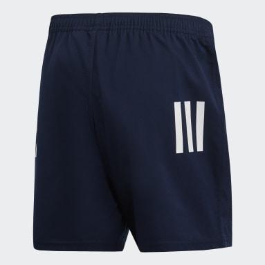 Pantalón corto 3 bandas Azul Hombre Rugby