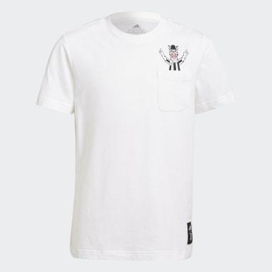 Boys Football White Juventus T-Shirt