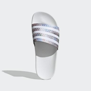 Ženy Originals bílá Pantofle adilette