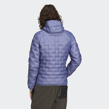 Men TERREX Purple Light Down Hooded Jacket
