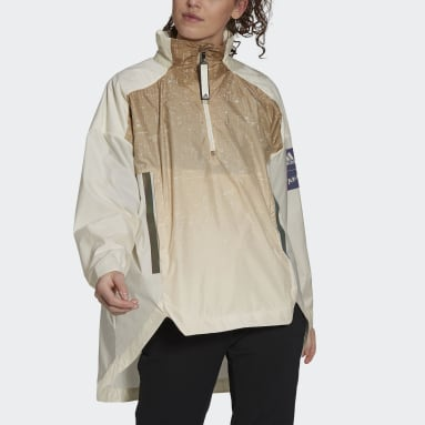 Giacca MYSHELTER Parley WIND.RDY Anorak Beige Donna City Outdoor