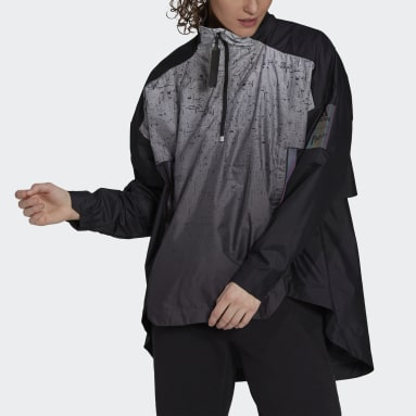 Giacca MYSHELTER Parley WIND.RDY Anorak Nero Donna City Outdoor