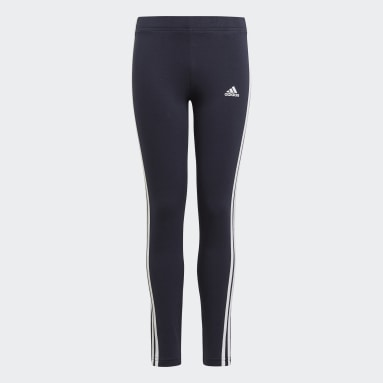 adidas Essentials 3-Stripes Leggings Niebieski