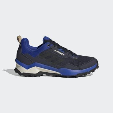 Muži TERREX modrá Boty Terrex AX4 Primegreen Hiking