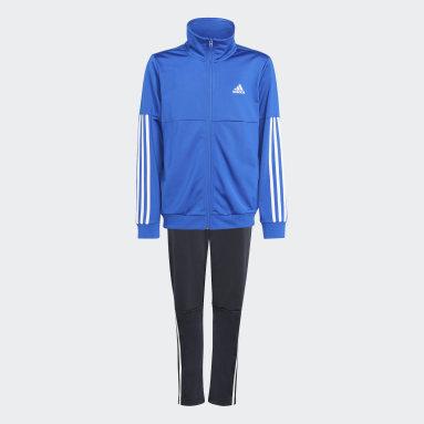 Boys Gym & Training Blue 3-Stripes Team Track Suit