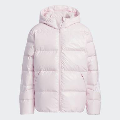 Kids Gym & Training Pink Metallic Fabric Down Jacket